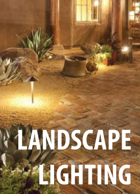 Landscape lighting banner