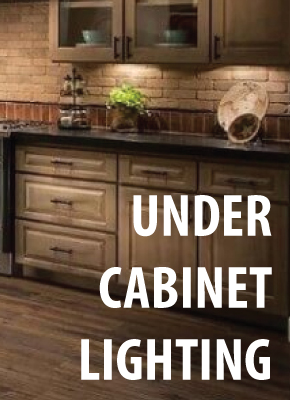 Cabinet lighting banner
