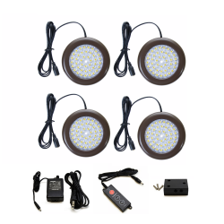 3.5 inch Cool White LED Puck Lights Standard Kit (4 Pack)