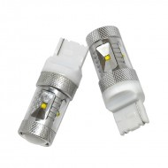 Lightkiwi BR831 Automotive 30 watt LED Rear Turn Signal for Subaru - Xenon White [Pair]