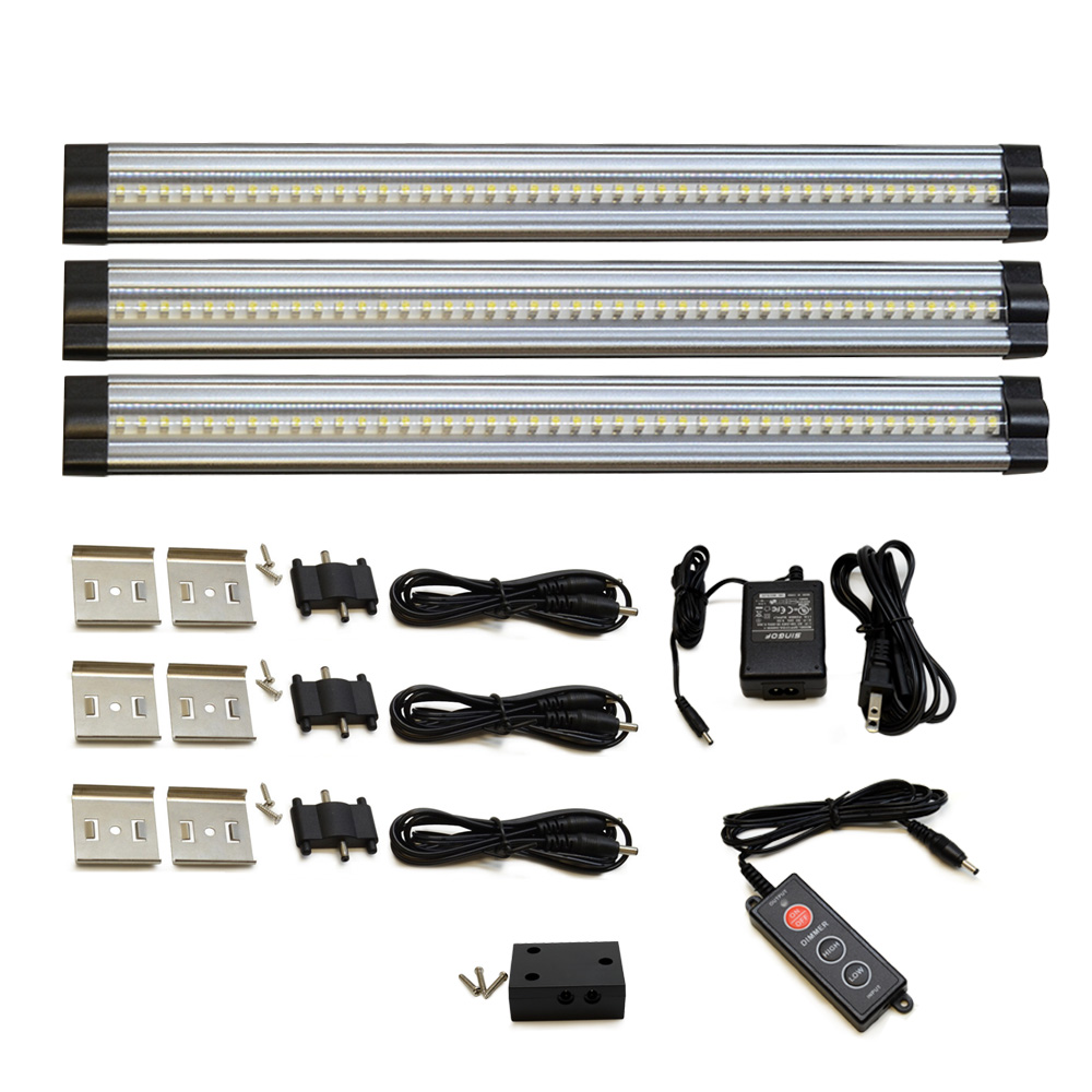 Le Dimmable Under Cabinet Lighting 3 Panel Deluxe Kit: 12 Inch Warm White Modular LED Under Cabinet Lighting