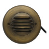 Integrated LED Louvered Step Light for Low Voltage Landscape Lighting - Brass (Polished Finish)