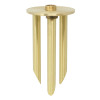 8-Inch Solid Brass Tripod Ground Stake, 1/2-14 NPSM Thread (1 Pack)