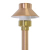 Top Hat Path & Area Light for Low Voltage Landscape Lighting - Copper