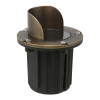 In-Ground Well Light w/ Angle Shield for Low Voltage Landscape Lighting - Brass (Polished Finish)