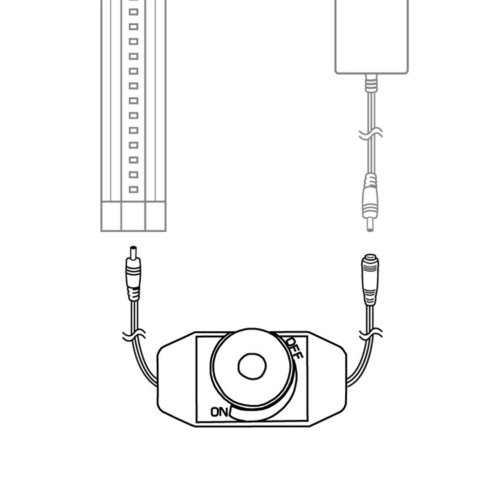 rotary dimmer switch for modular led under cabinet lighting
