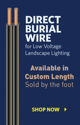 Direct Burial Landscape Lighting Wire Custom Length